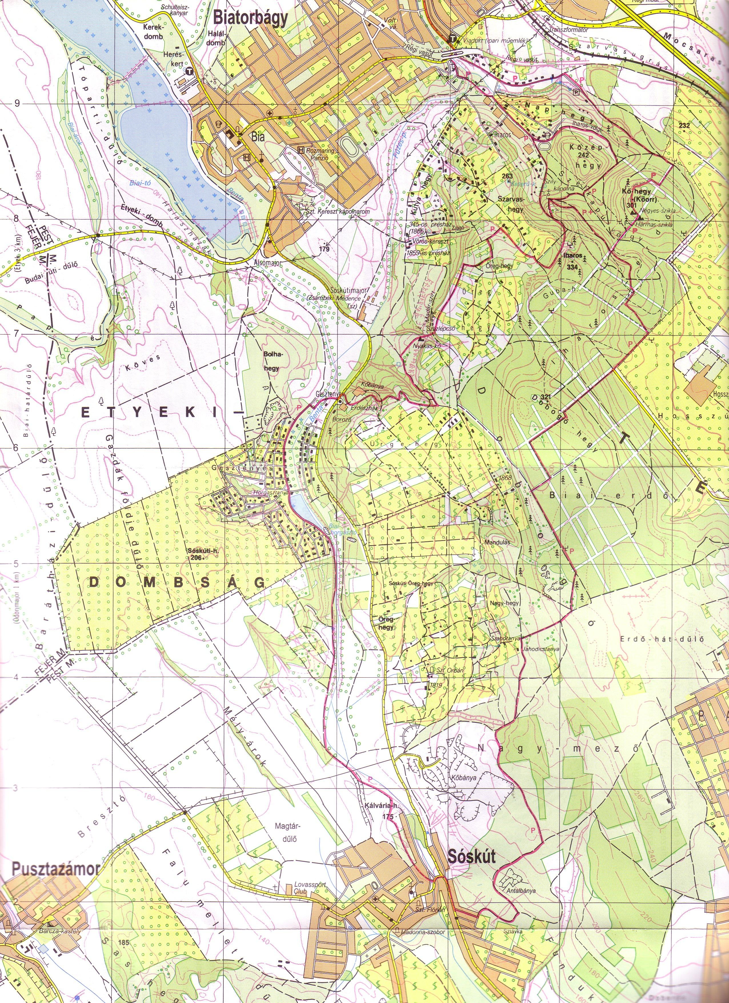 sóskút térkép 20130505 | Túrabot sóskút térkép